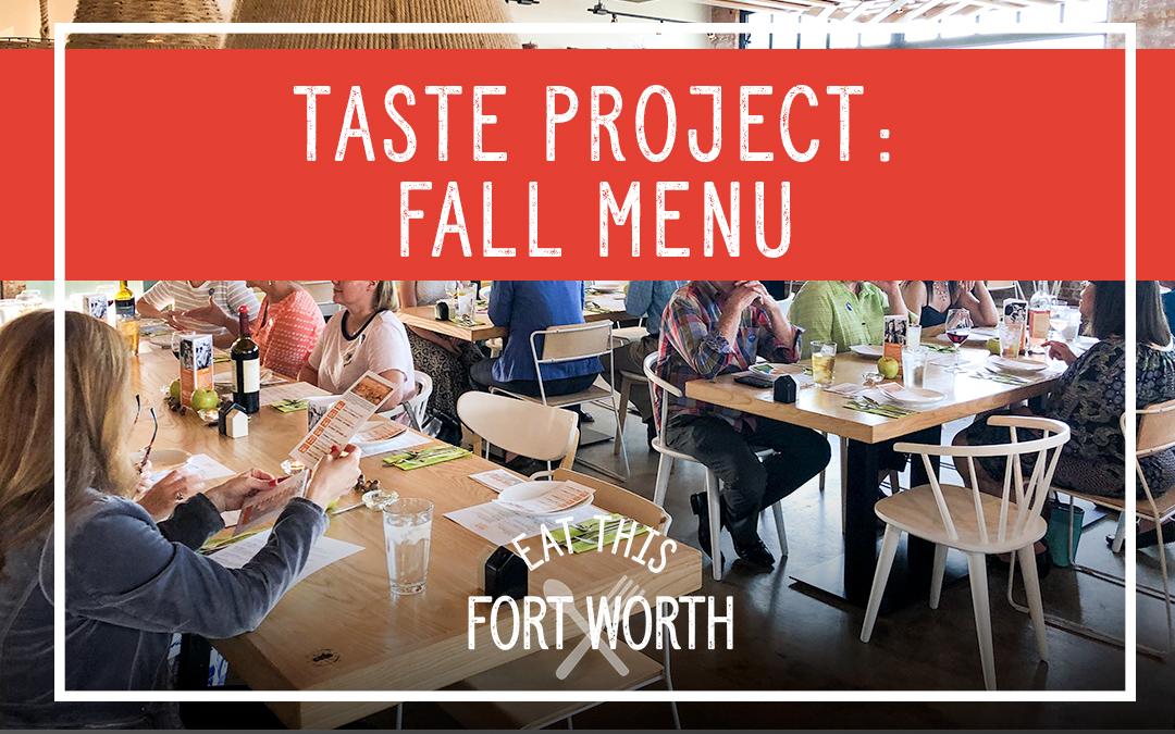 Taste Project : Fall Menu